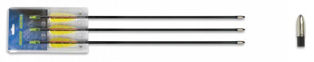 "Set 3 flechas fibra. 26"""