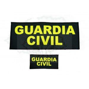 PARCHE GUARDIA CIVIL CHALECO ANTIBALAS DELANTERO Y TRASERO