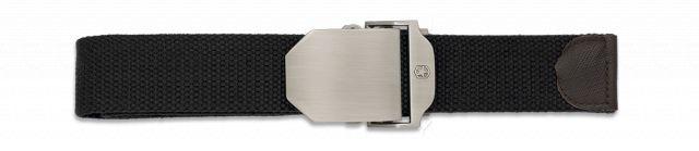 Cinturon Negro hebilla metalica